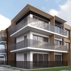 modernistyczny blok mieszkalny